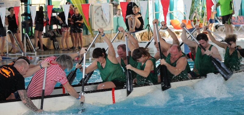 Events in der Lagune Cottbus - Tauziehen mal anders