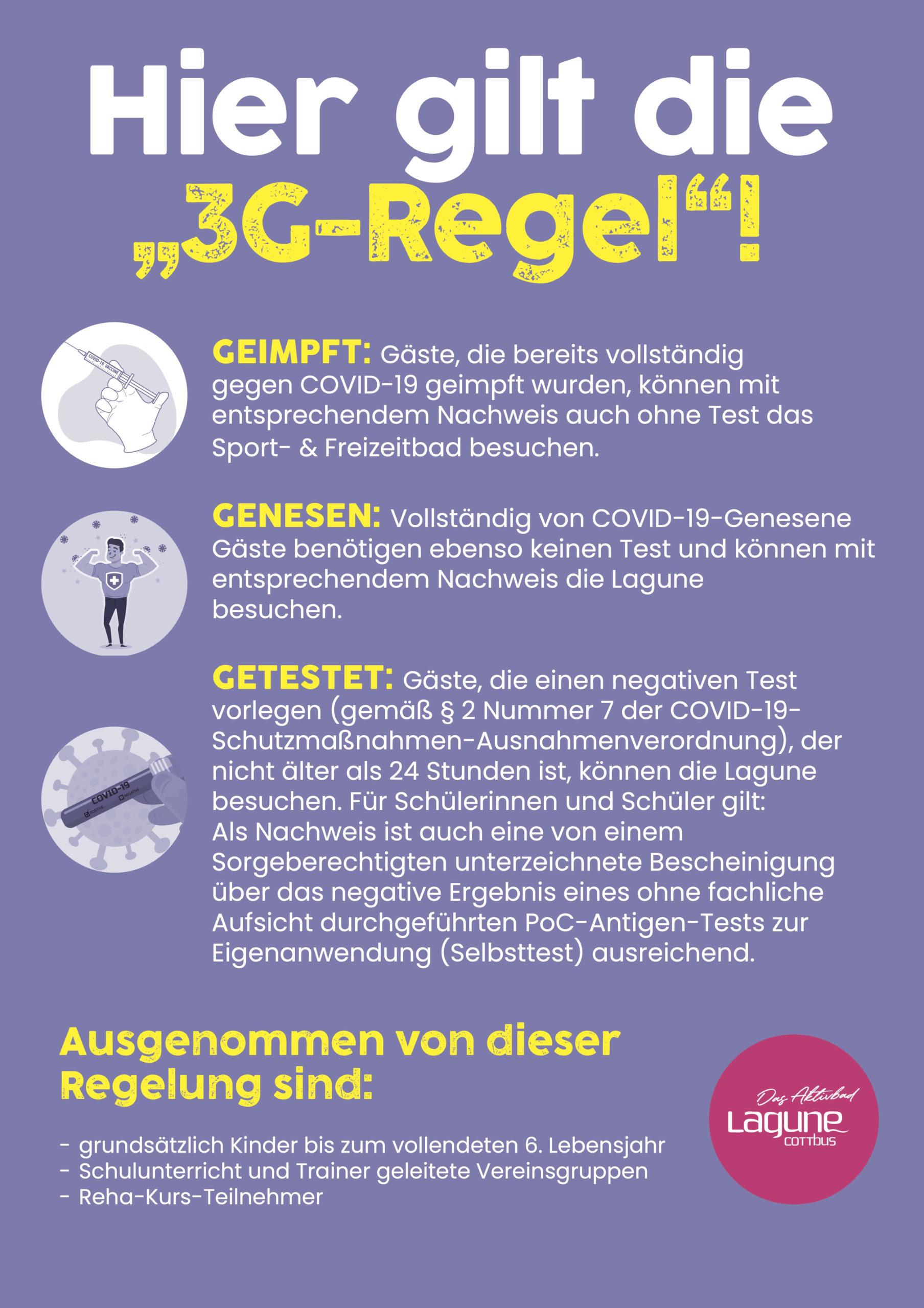 3G-Regel Lagune Cottbus