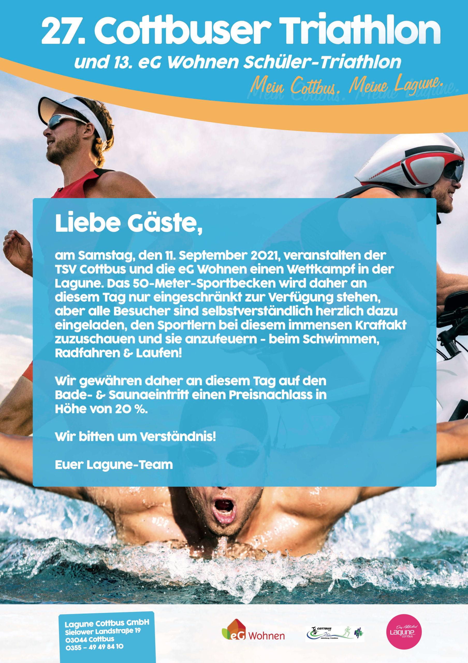 27. Cottbuser Triathlonfest in der Lagune